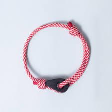 bracelet red images Santa marta paracord thimble bracelet red white in matte fathom jpg
