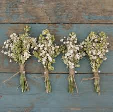 dried flowers boho purity dried flower buttonholes set of four by the artisan