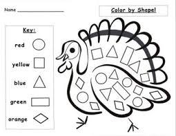 turkey worksheets kindergarten thanksgiving counting free