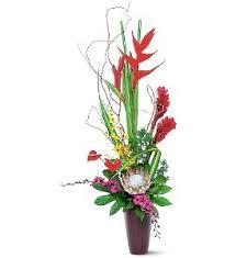 tropical flower arrangements tropical or flower arrangements