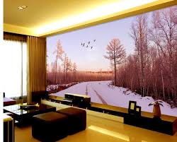 online get cheap fantasy forest wall mural aliexpress com fantasy wallpaper 3d wall 3d wallpaper snow birch forest background wall murals custom 3d wallpaper