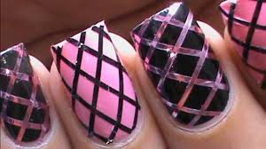 Nail Art Designs To Do At Home Striping Tape Nail Art Tutorial For Beginners Easy How To Do Nail