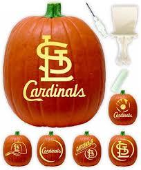 pumpkin carving kits st louis cardinals pumpkin carving kit