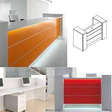 Illuminated Reception Desk Valde High Gloss Illuminated Reception Unit Straight Formation