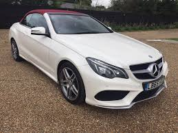 convertible mercedes red mercedes e220 cdi convertible 65 reg white red roof and leather