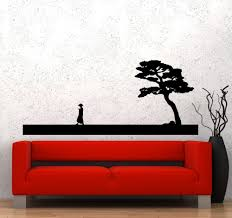 popular asian wall decal buy cheap asian wall decal lots from wall decal chinese style vinyl sticker man and tree asian oriental bedroom livingroom home decoration house