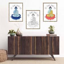 yoga home decor stunning yoga buddha meditating abstract canvas