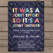 baby shower coed its was a joint effort baby shower coed invitation co ed shower