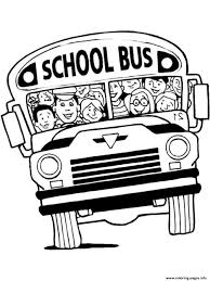 a cramped bus coloring pages printable