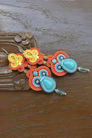 Colorful Chandelier Earrings Colorful Soutache Earrings Colorful Earrings Por Beadsnsoutache