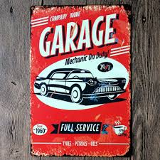 garage 3d stereoscopic iron sheet wall sticker car repair shop