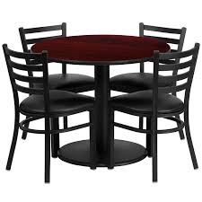 amazon com flash furniture 36 u0027 u0027 round black laminate table set