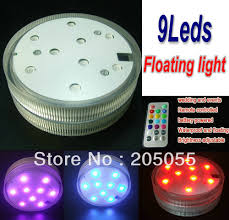 light and battery store remote controled 9led floating light battery operated smd bulb flat