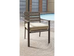 Ashley Swivel Chair by Signature Design By Ashley Peachstone Outdoor Dining Table Set