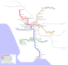 Los Angeles Freeway Map by Los Angeles Metro Map Map Travel Holiday Vacations