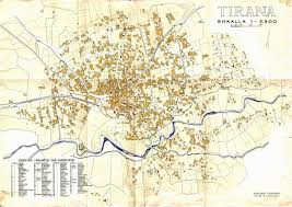 Old Map Large Old Map Of Tirana U2013 1921 Tirana Large Old Map U2013 1921