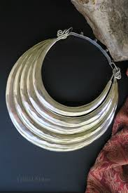 neck ring necklace images Large 5 ring torc necklace from hmong miao hill tribe JPG