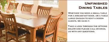 Unfinished Dining Room Tables Impressive Unfinished Furniture Tables Unfinished Wood Furniture