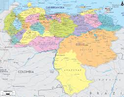 South America Map With Capitals by Political Map Of Venezuela And Venezuela Details Map Quotes