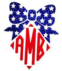 bow monogram glitter bow monogram shirts