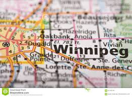 Winnipeg Canada Map by Winnipeg Manitoba On Map Stock Photo Image 87763154