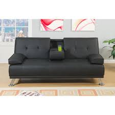 Black Faux Leather Sofa Px Contemporary Black Faux Leather Adjustable Sofa Bed Sleeper