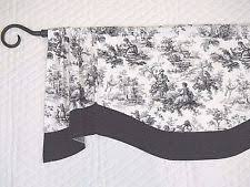 Black And White Polka Dot Valance Handmade Curtains Drapes U0026 Valances Ebay
