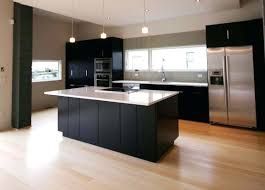 modern kitchen cabinets with black appliances design