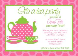 afternoon tea party invitations template wedding invitation sample