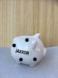 personalised piggy bank personalised ceramic mini piggy bank money box my 1st piggy bank