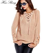 wholesale sweaters 2018 wholesale 2016 autumn winter v neck lace up sweaters