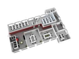 floor plan of the office 3d floor plan realistic rendering architectural 3d visualization