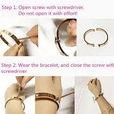 love bracelet gold plated images Multibey 18k rose gold plated bangle bracelet stainless steel jpg