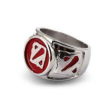 2 s ring dota 2 logo silver ring kill ping online store