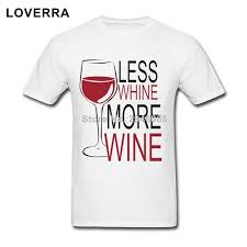 less whine more wine t shirt men summer fitness tee shirt