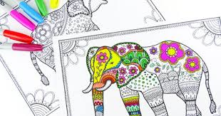 elephant love coloring page free elephant coloring pages for adults mandala elephant free