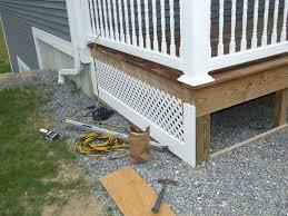 porch skirt how to build a lattice porch skirt