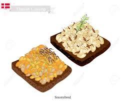 cuisine danoise cuisine danoise illustration de smorrebrod ou de de seigle