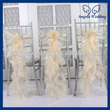 curly willow chair sash ch098c wholesale cheap organza wedding ruffled curly willow