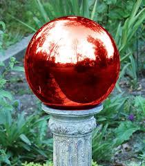 Garden Gazing Globes Amazon Com Echo Valley 8105 10 Inch Glass Gazing Globe Red