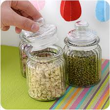 clear glass canisters for kitchen 350ml clear glass jar kitchen storage jars for tea coffee suger