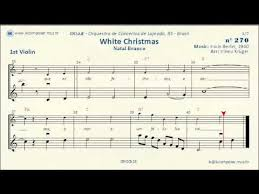 270 white christmas 1st violin youtube