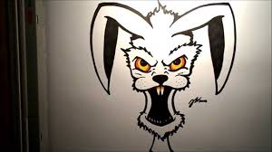 how to draw an evil rabbit youtube