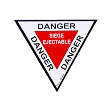 siege ejectable danger siège éjectable 10 cm sticker pas cher sud air équipement
