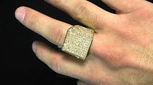 men s rings large gold plated micro pave cz men s ring kingice hip hop