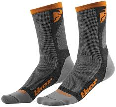 motocross boots closeout thor mx dual sport socks grey orange motocross boots thor steinar