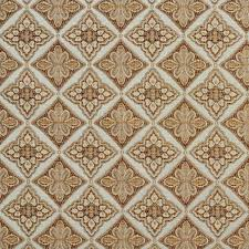 ivory upholstery fabric light blue gold brown and ivory diamond brocade upholstery