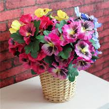 Silk Flower Arrangements For Office - aliexpress com buy sale pansy artificial flowers plants home