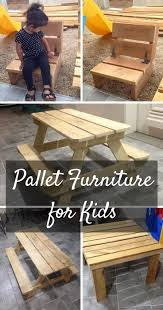Toddler Tool Benches Cute Kids U0027 Furniture Made Of Wooden Pallets