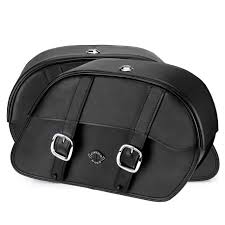 Harley Softail Standard Fxst Motorcycle Saddlebags Charger Slanted